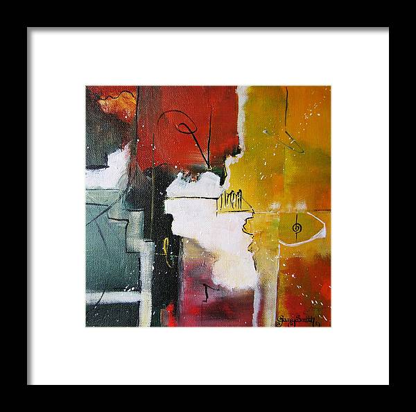 Abstract Artwork Framed Print featuring the painting The Spirit by Gary Smith