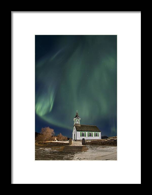 Aurora Framed Print featuring the photograph The Spirit Of Iceland by Evelina Kremsdorf