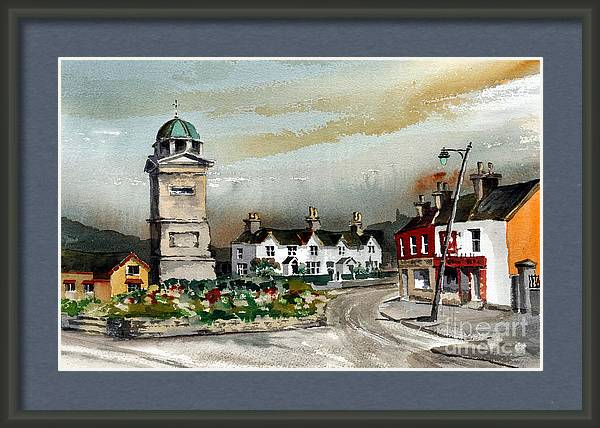 The Square in Enniskerry Wicklow by Val Byrne