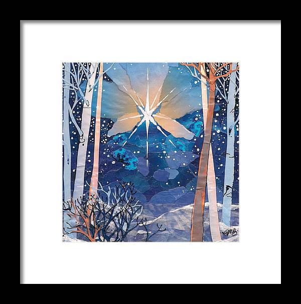 Christmas Framed Print featuring the mixed media The Star by Robin Birrell