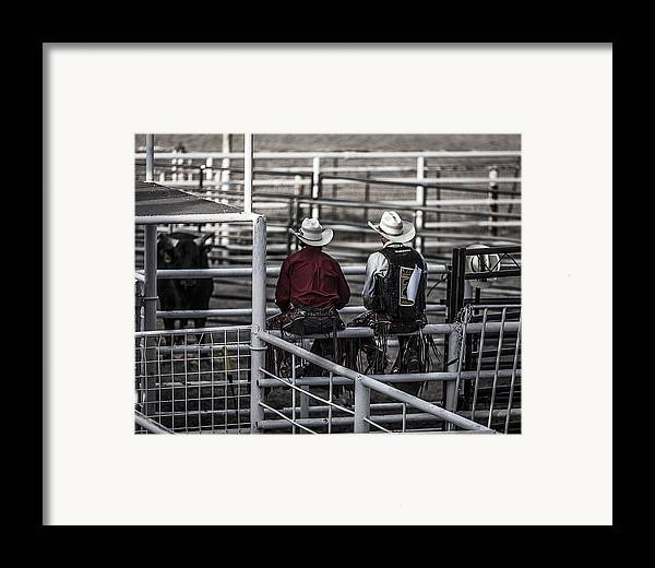 Landscapes Framed Print featuring the photograph The Stare-off Begins by Amber Kresge
