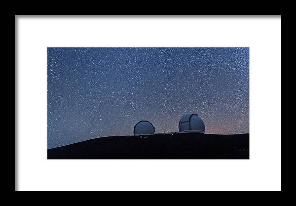 Big Island Framed Print featuring the photograph The Stars Above Keck by Jason Chu
