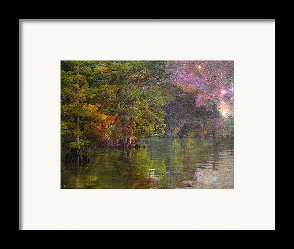 J Larry Walker Framed Print featuring the digital art The Stars Give Way To The Sun by J Larry Walker