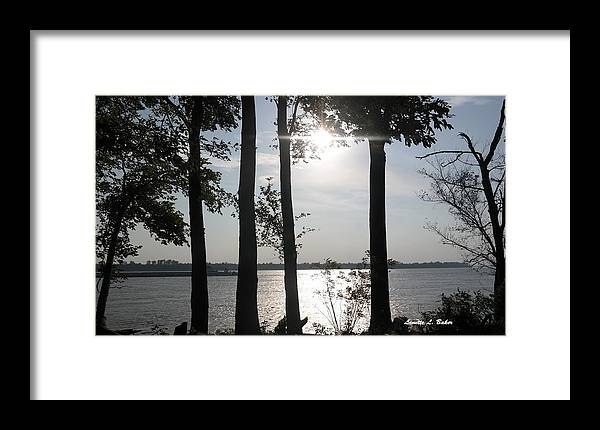 Sun Framed Print featuring the photograph The Start Of A Sunset by Lanette Baker