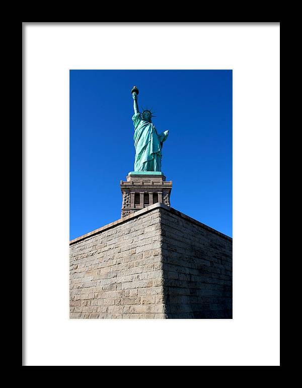 Statue Of Liberty Framed Print featuring the photograph The Statue by Allan Lovell
