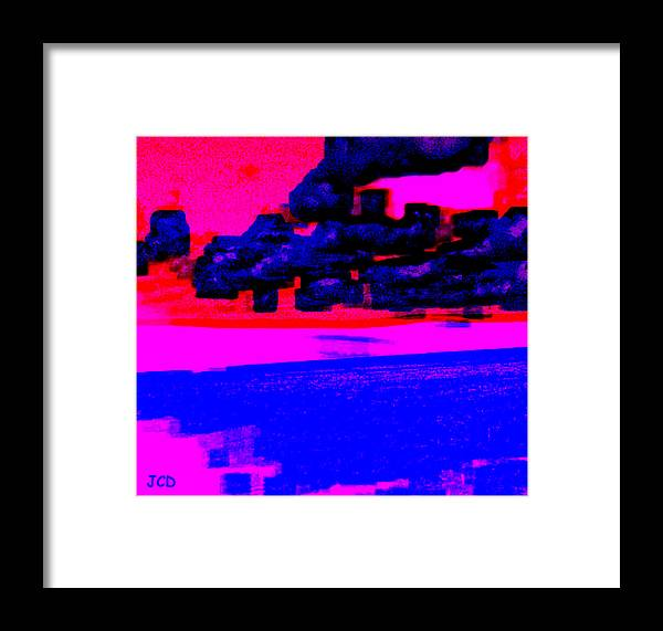 Landscape Framed Print featuring the digital art The Storm Is Leaving by Jean-Claude Delhaise