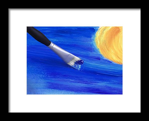 Brush Strokes Framed Print featuring the photograph The Stroke Of The Brush Colors The Sky by Chrystyne Novack
