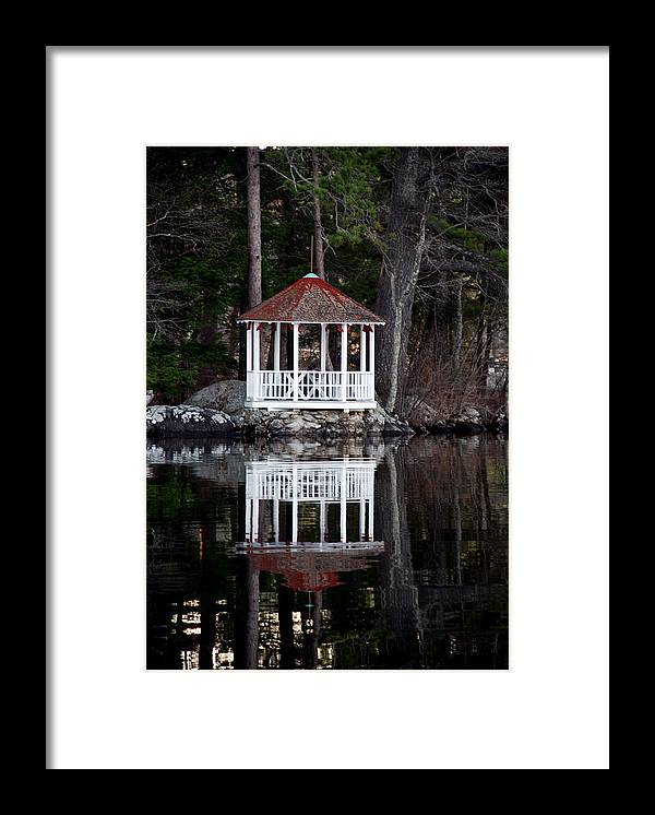 Gazebo Framed Print featuring the photograph The Summer House by Skip Willits