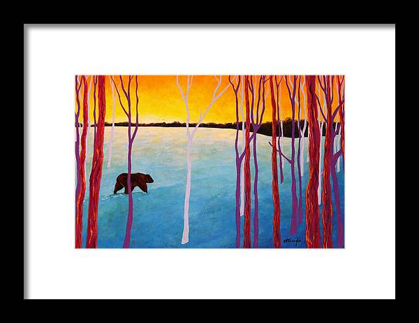 Wildlife Framed Print featuring the painting The Sundowner by Joe Triano