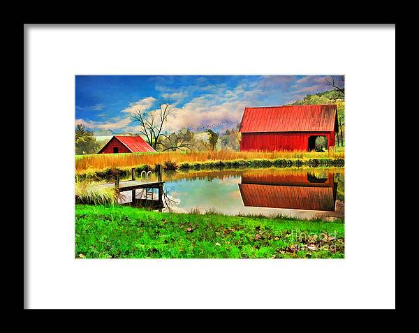 Agriculture Framed Print featuring the photograph The Swimming Hole by Darren Fisher