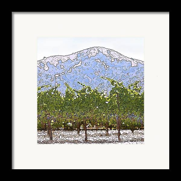 Cour De Valle Vineyard Framed Print featuring the painting The Taste Of Wine by Artist and Photographer Laura Wrede