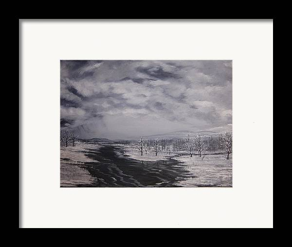 Dismal Framed Print featuring the painting The Tempest by Mark Golomb