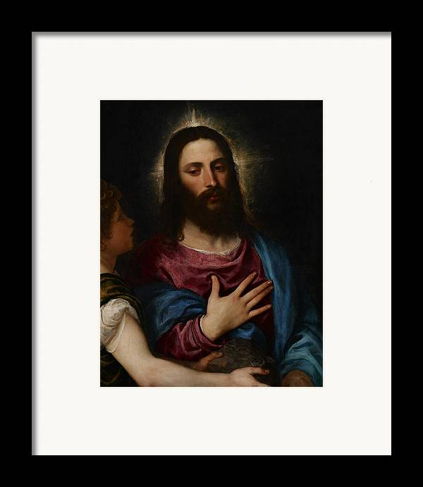 Resolve Framed Print featuring the painting The Temptation Of Christ by Titian