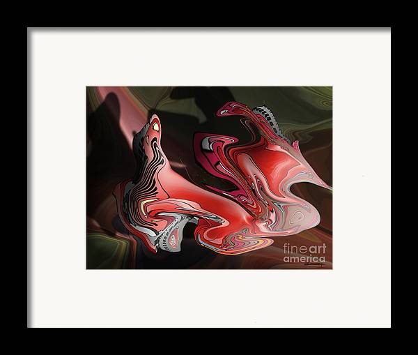 Theater Framed Print featuring the painting The Theatre Or Shakespeare Atmosphere by Christian Simonian