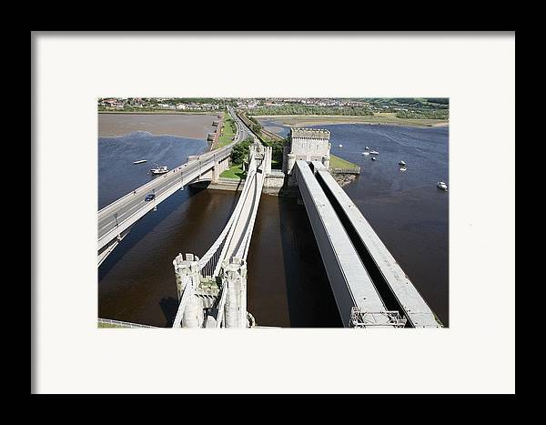 Bridges Framed Print featuring the photograph The Three Bridges. by Christopher Rowlands