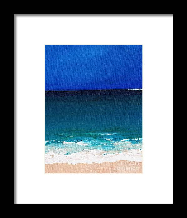 Seashore Framed Print featuring the painting The Tide Coming In by Frances Marino