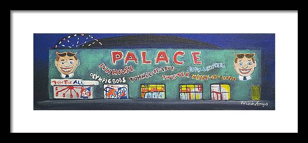 Tillie Of Asbury Park Framed Print featuring the painting The Tiny Tiny Palace by Patricia Arroyo