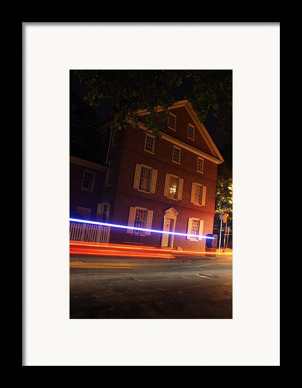 The Todd House Framed Print featuring the photograph The Todd House Philadelphia by Christopher Woods