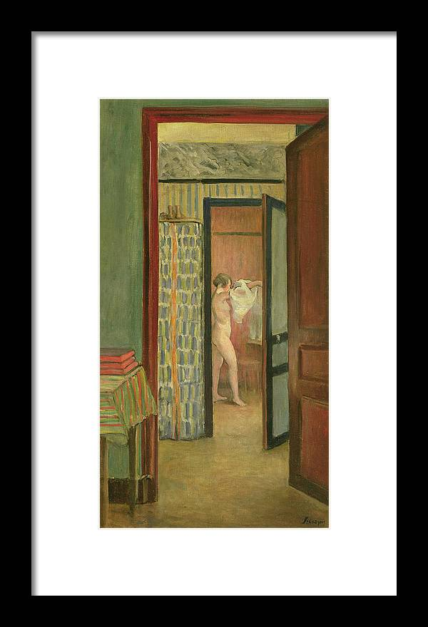 Interior Framed Print featuring the painting The Toilet by Henri Lebasque