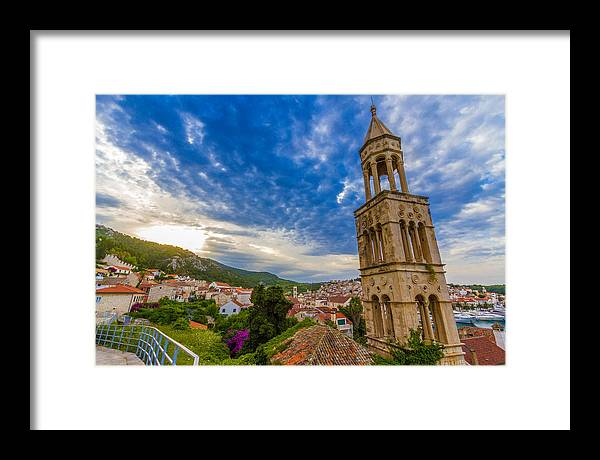 Hvar Framed Print featuring the photograph The Tower Of Hvar by Samuel Garza