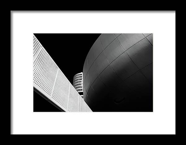 Architecture Framed Print featuring the photograph The Tower by Rolf Endermann
