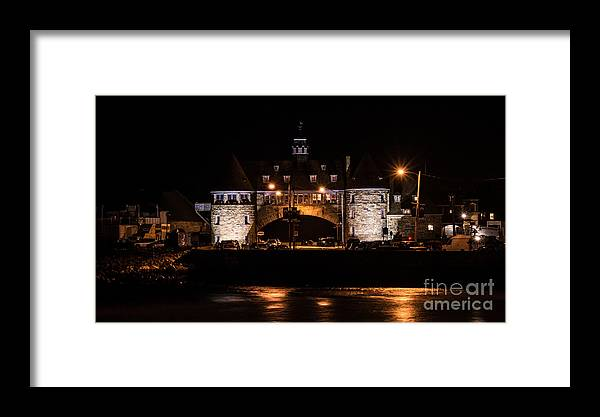 narragansett Bay Framed Print featuring the photograph The Towers. by New England Photography