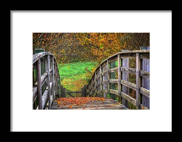 Bridge Framed Print featuring the photograph The Trail Arches On by Greg and Chrystal Mimbs