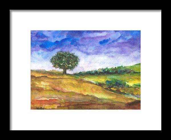 The Tree Framed Print featuring the painting The Tree by Milla Nuzzoli