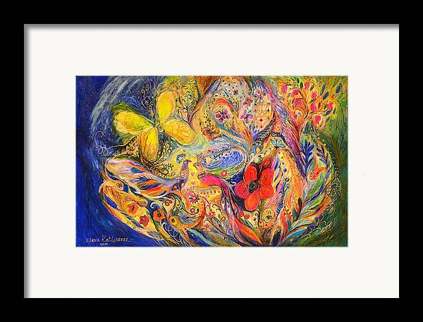 Original Framed Print featuring the painting The Tree Of Life by Elena Kotliarker
