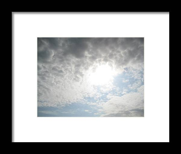 Sky Framed Print featuring the photograph The Tunnel Of Light by Melissa McCrann