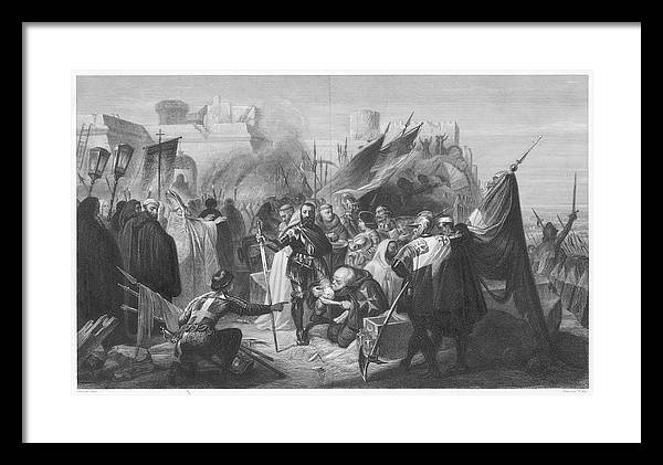 The Turks Lift Their Siege Of  Rhodes by Mary Evans Picture Library