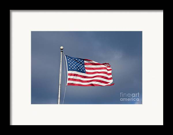 America Framed Print featuring the photograph The United States Of America by Benjamin Reed