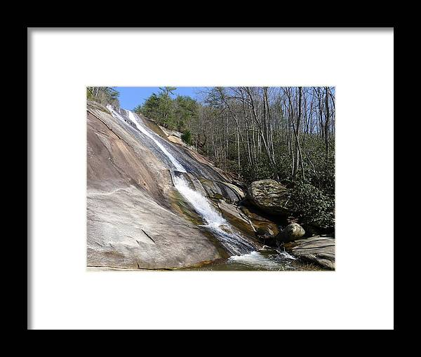 Stone Mountain Framed Print featuring the photograph The Upper Cascade by Joel Deutsch