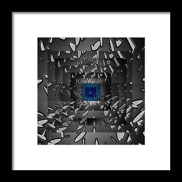 Framed Print featuring the digital art The Victory Of Height by Coal