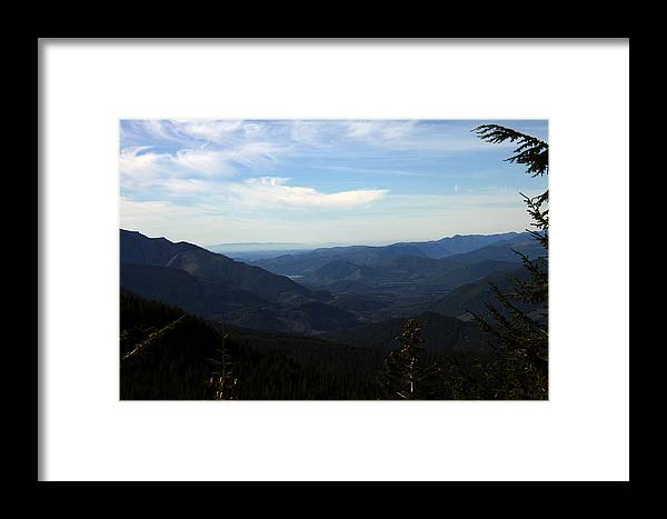 Nature Framed Print featuring the photograph The View From Nf 7605 No 2 by Edward Hawkins II