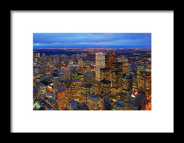 Toronto Framed Print featuring the photograph The View From The Top by David Giral