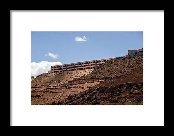 Landscape Framed Print featuring the photograph The View Hotel - Monument Valley - Arizona by Jon Berghoff