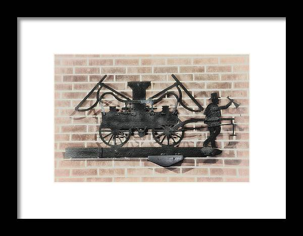 Vintage Framed Print featuring the photograph The Vintage Fireman by Bill Cannon