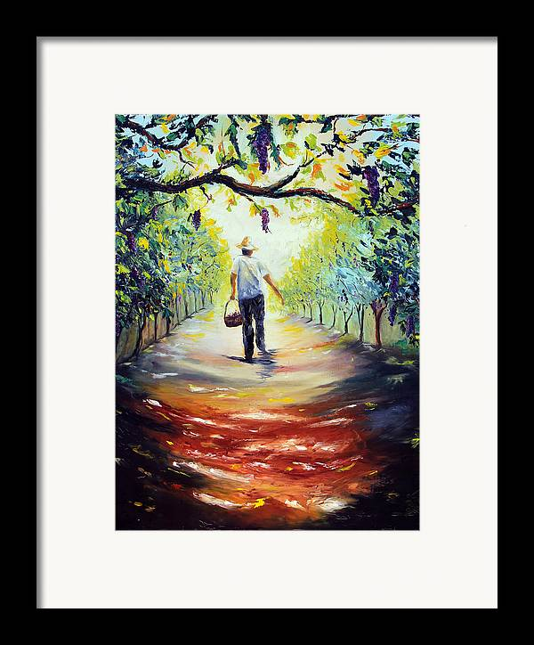 Winery Framed Print featuring the painting The Vintner by Meaghan Troup