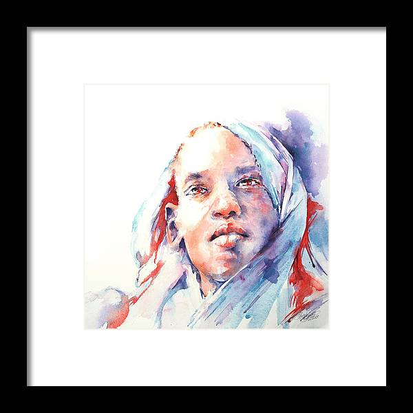 Africa Framed Print featuring the painting The Visionary by Stephie Butler