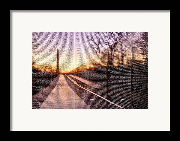 Vietnam Wall Framed Print featuring the photograph The Wall by JC Findley