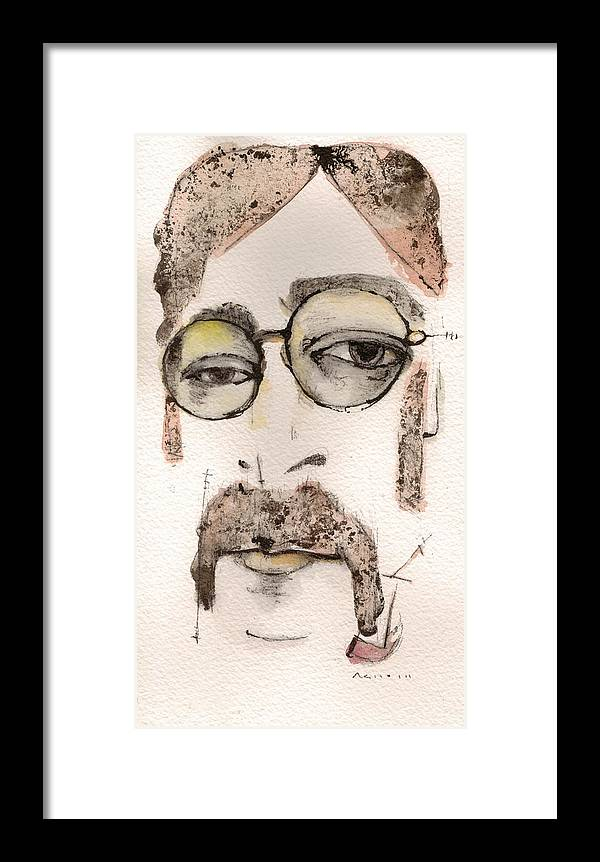 The Beatles Framed Print featuring the painting The Walrus As John Lennon by Mark M Mellon