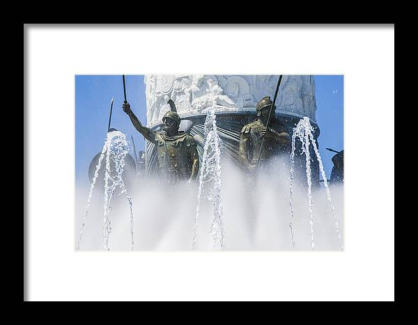 Statue Photographs Framed Print featuring the photograph The Warriors by Sotiris Filippou