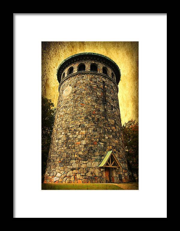 Tower Framed Print featuring the digital art The Watch Tower by Trina Ansel