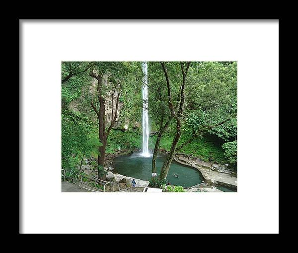 Camiguin Island... Framed Print featuring the photograph The Waterfalls by Fladelita Messerli-