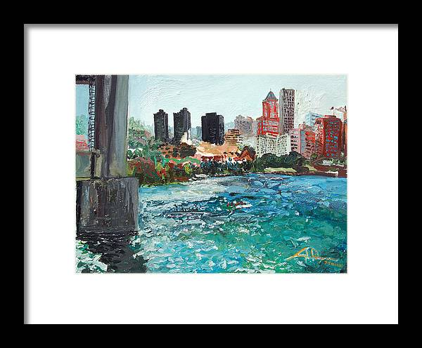 Waterfront Framed Print featuring the painting The Waterfront by Joseph Demaree