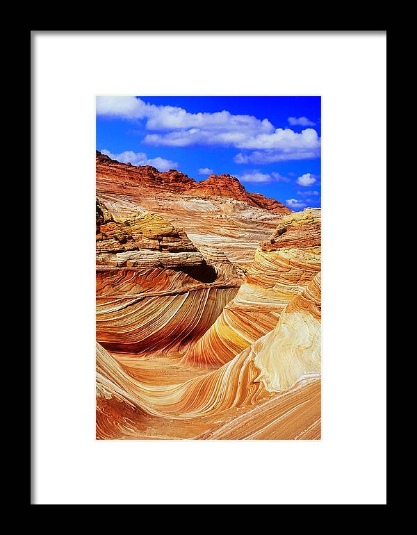 Southwest Us Framed Print featuring the photograph The Wave by David Davis
