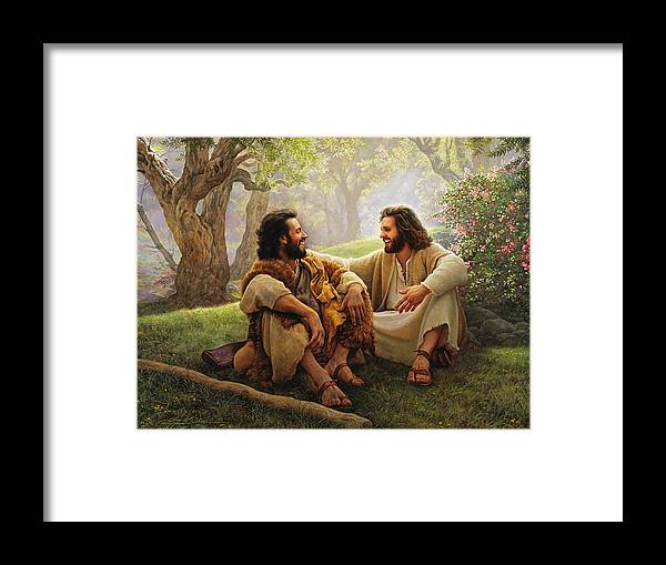 Jesus Framed Print featuring the painting The Way of Joy by Greg Olsen