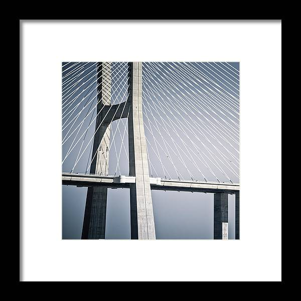 Bridge Framed Print featuring the photograph The Web by Cedric Lange