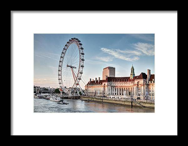 Westminster Framed Print featuring the photograph The Wheel by Tony Brooks